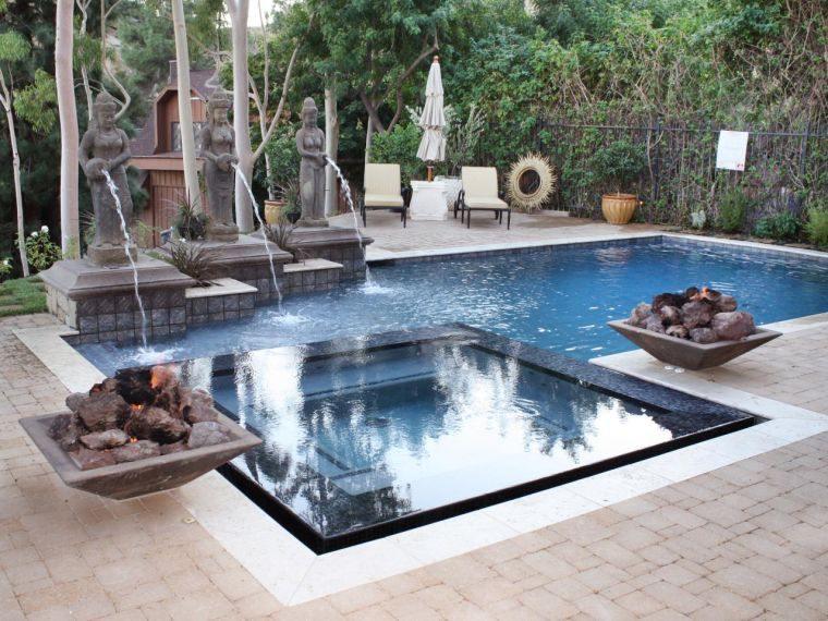 fontaine piscine bouddha