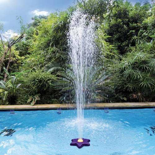 fontaine piscine fleur