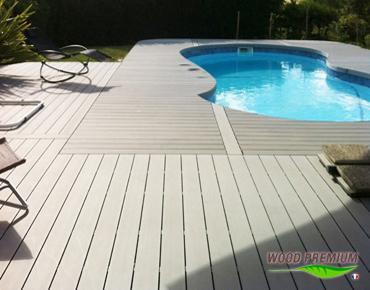plage piscine bois composite