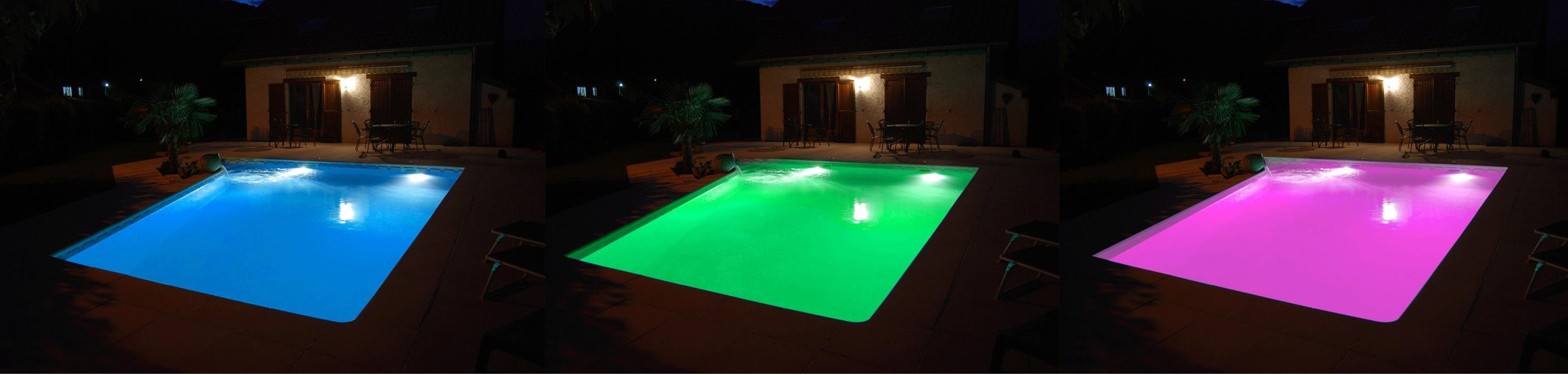 projecteur piscine couleur