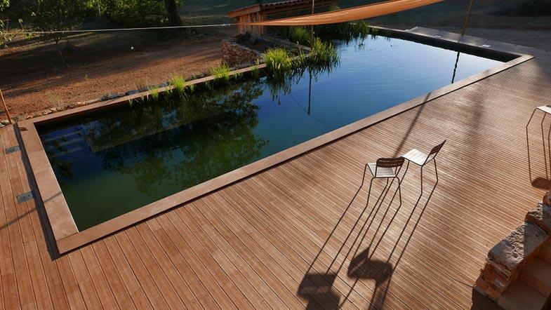 terrasse piscine hevea