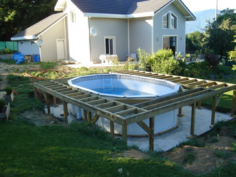 Construire terrasse pour piscine hors sol